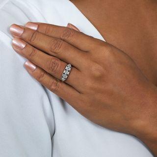 Five Diamond Art Deco Band Ring