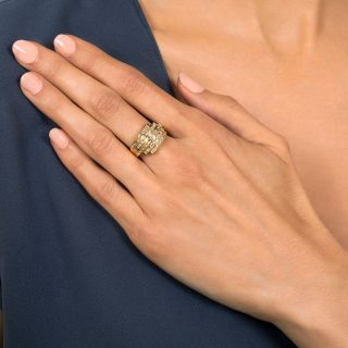 Five-Row Baguette Diamond Band Ring