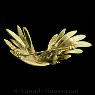 Free Form Diamond Feather Pin