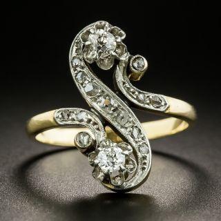 French 19th Century Two-Stone Diamond Ring - 2