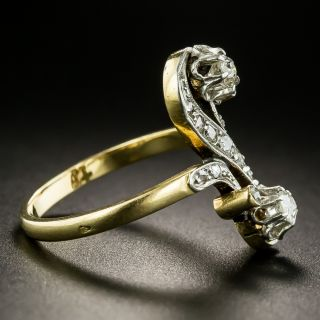 French 19th Century Two-Stone Diamond Ring
