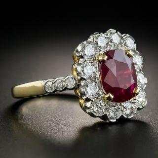 French 2.85 Carat Burma Ruby and Diamond Ring