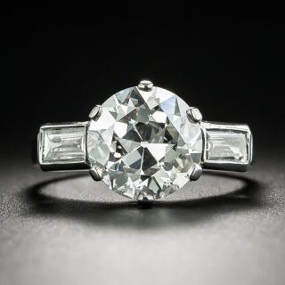 French 3.52 Carat Diamond Engagement Ring - GIA I VS1 - 2