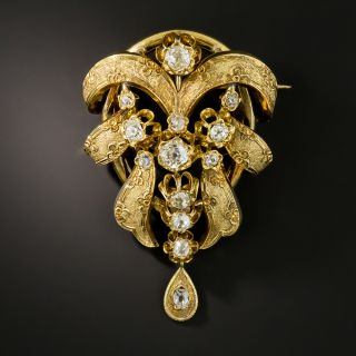 French Antique Diamond Brooch/Necklace