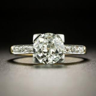French Art Deco 1.53 Carat Diamond Engagement Ring - GIA M VS2 - 2