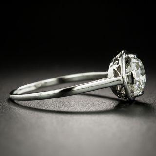 French Art Deco 1.55 Carat Diamond Solitaire - GIA K SI2