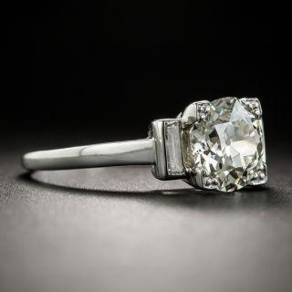 French Art Deco 1.78 Carat Diamond Platinum Solitaire Engagement Ring - GIA N VS2