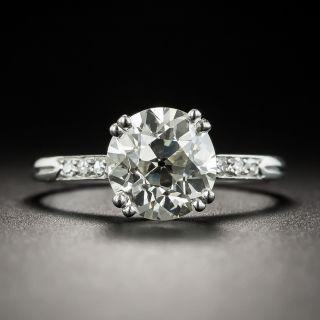French Art Deco 2.12 Carat European-Cut Diamond Solitaire Engagement Ring - GIA M  VS1 (GIA)  - 2