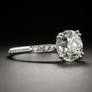 French Art Deco 2.12 Carat Solitaire Engagement Ring - GIA M  VS1