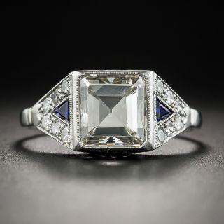 French Art Deco 2.69 Carat Square Emerald-Cut Diamond Ring - GIA - 1