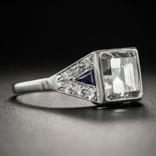 French Art Deco 2.69 Carat Square Emerald-Cut Diamond Ring - GIA