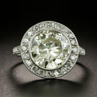 French Art Deco 2.99 Carat Diamond Engagement Ring - GIA - 1