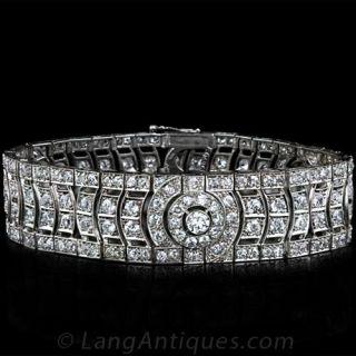 French Art Deco Diamond Bracelet - 1