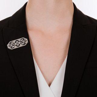 French Art Deco Diamond Brooch