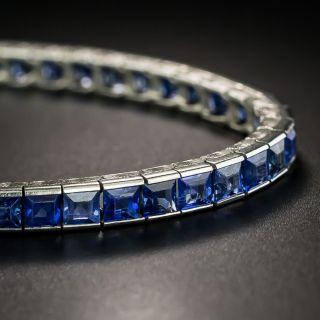 French Art Deco Sapphire Line Bracelet - 2