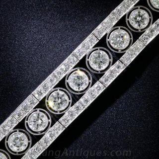 French Art Deco Platinum and Diamond Bracelet - 1