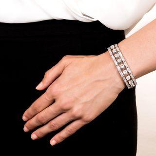 French Art Deco Platinum and Diamond Bracelet
