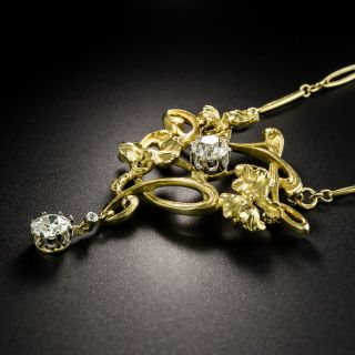 French Art Nouveau Diamond Necklace