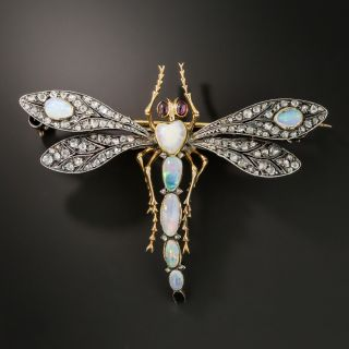 French Art Nouveau Dragonfly Brooch By Antoine Lapparra - 2