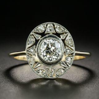French Belle Epoque .80 Carat Diamond Star Motif Ring - 2