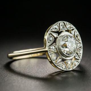 French Belle Epoque .80 Carat Diamond Star Motif Ring