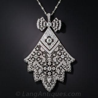 French Belle Epoque Diamond Necklace - 1
