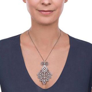 French Belle Epoque Diamond Necklace