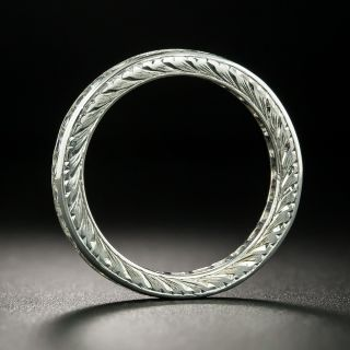 French-Cut Diamond Eternity Band, Size 6 1/4