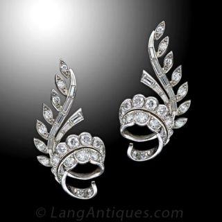 French Diamond Ear Clips