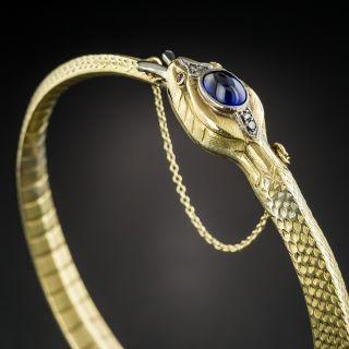 French Egyptian Revival Cobra Bangle Bracelet