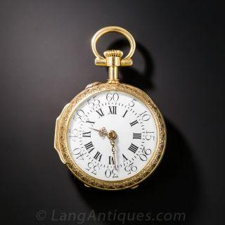 French Enamel Pendant Watch