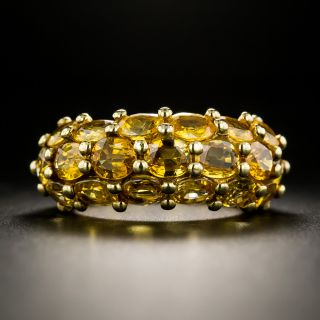 French Golden Sapphire Ring by Arfan, Paris - 2