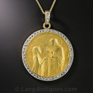 French Holy Communion Pendant by Émile Dropsy