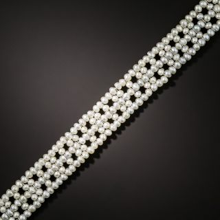 French Natural Seed Pearl Bracelet - 2