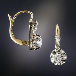 French Platinum .50 Carat Diamond Dangle Earrings