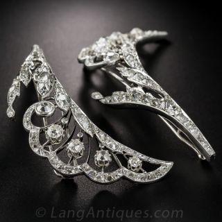 French Platinum Diamond Barrettes