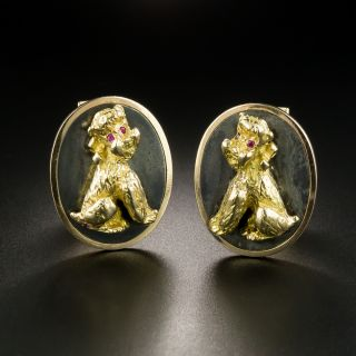 Estate French Poodles for French Cuffs - 2