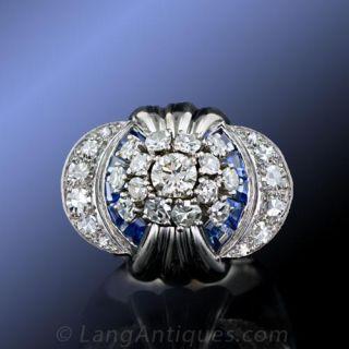 Estate French Diamond Cocktail Ring