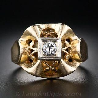 French Retro Diamond Ring