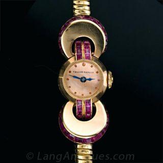French Retro Ladies Wrist Watch Main View