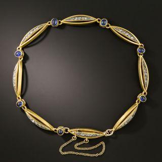 French Sapphire and Diamond Bracelet - 1