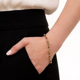 French Sapphire and Diamond Bracelet