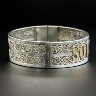 """French """"Souvenir"""" Silver Bracelet"""