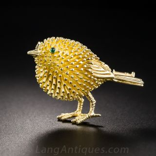 French Tiffany and Co. Birdie Brooch
