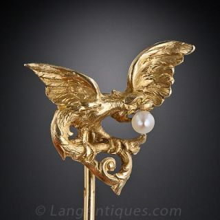 French Turn-of-the-Century Griffin Stick Pin
