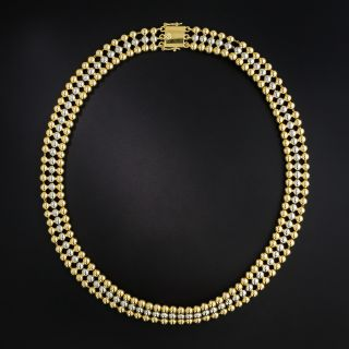 French Two-Tone Choker Necklace - 1