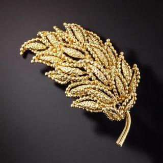 French Vintage Tiffany & Co. Leaf Brooch - 1