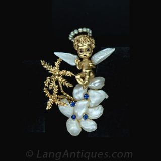 Freshwater Pearl and Sapphire Angel by  Ruser  Main View