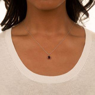 Garnet Solitaire Pendant