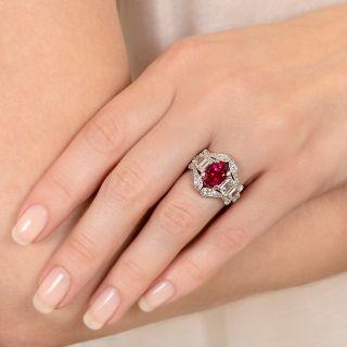 'Gem' 3.23 Carat Ceylon Ruby and Diamond Ring - AGL